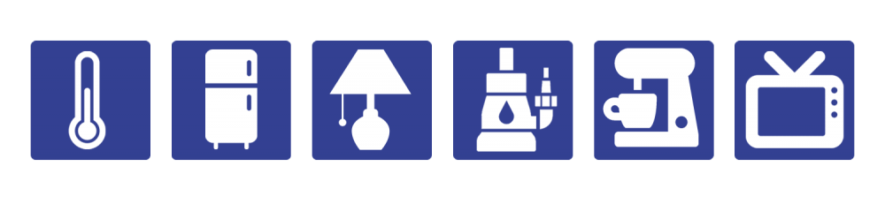 Icons of electric applicances or devices